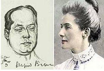 Edith Cavell und Gottfried Benn, der als Stabsarzt bei ihrer Hinrichtung im Oktober 1915 zugegen war