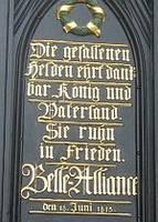Preußisches Denkmal renoviert. Deutsche SHAPE-Soldaten halfen bei Waterloo