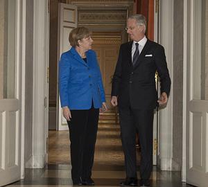 Merkel bei König Philippe