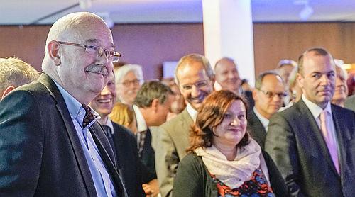 Verabschiedung von Rolf Dieter Krause, Leiter ARD-Studio Brüssel, im Hause der Landesvertretung NRW in Brüssel Foto:WDR/Klaus Görgen
