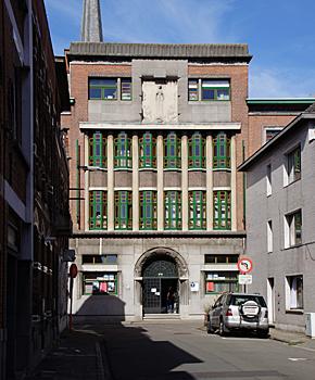 Art deco Architektur Niewstraat Schule des Ordens der Hieronymiten, 132, Arch August und Leander Waterschoot