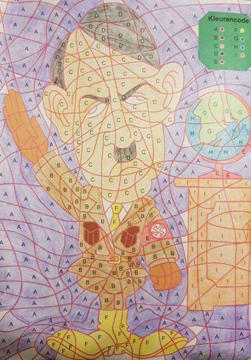 Heute dürfen wir Onkel Adolf malen
