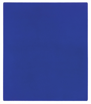 Untitled blue monochrome, (IKB 79) 1959 Paint on canvas on plywood 1397 x 1197 x 32 mm ©Yves Klein, ADAGP, Paris and DACS, London 2016