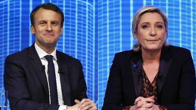 Macron und Le Pen in Belgien