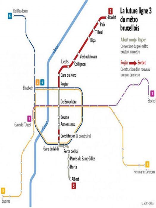 Neue Metrolinie 3 in Brüssel: es geht los!